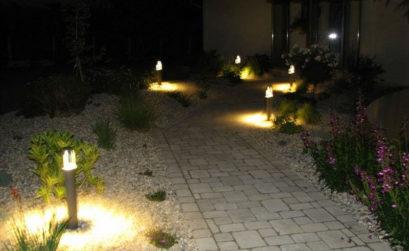 Eclairage extérieur de jardin