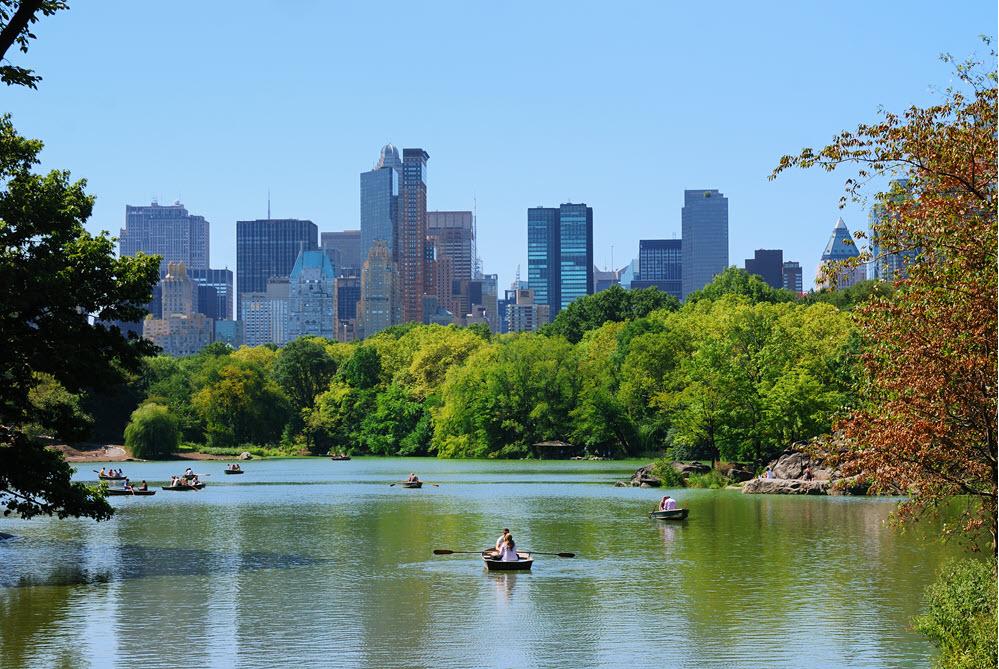Voir le grand jardin Central Park de New York
