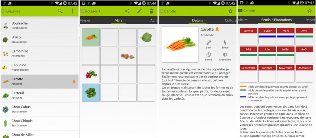 app iOS Mon Potager