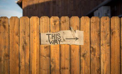 clôture de jardin en bois