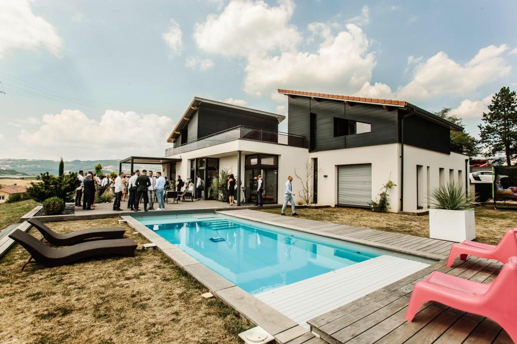maison neuve piscine
