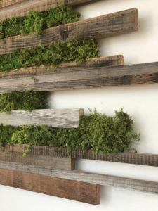 mur végétal en palette