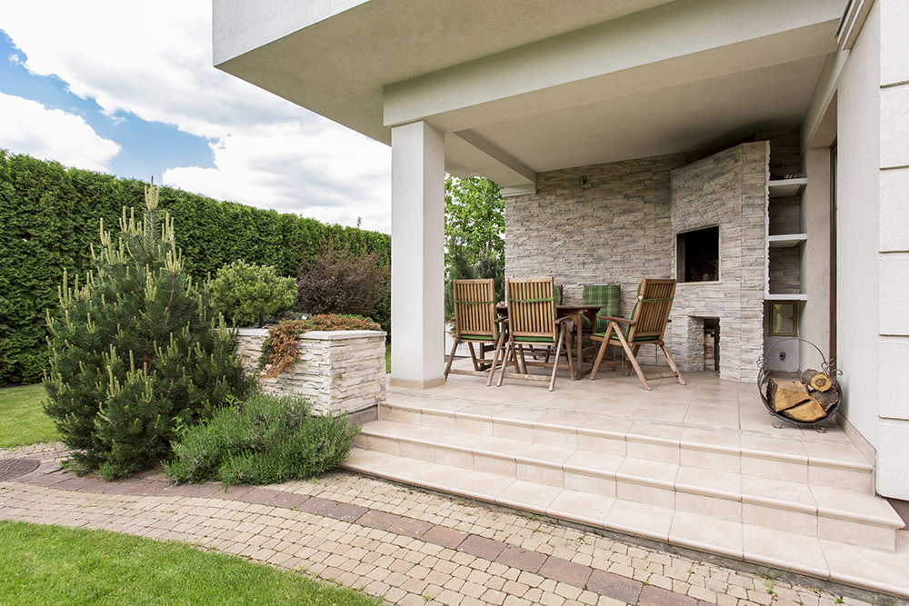 terrasse en pierre